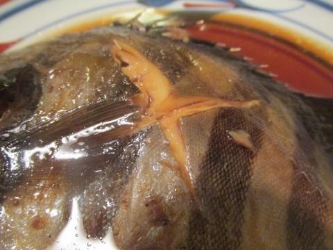 イシダイの煮付けアップ1