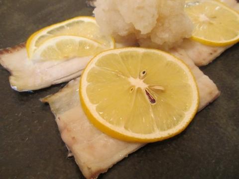 タチウオのレモン焼きアップ1