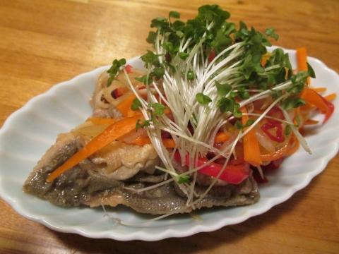 イサキの野菜たっぷり南蛮漬け4