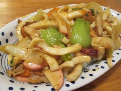 ヤリイカカレー中華丼1