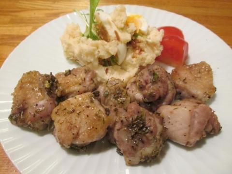 鶏モモ肉のハーブ焼き1