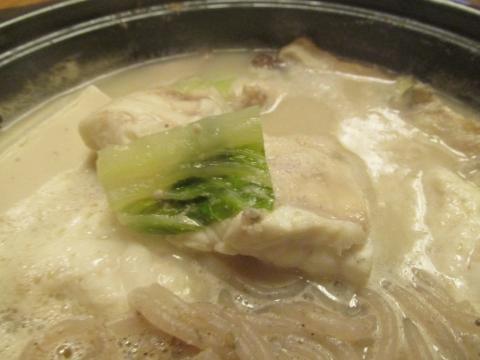 フグの胡麻豆乳鍋5