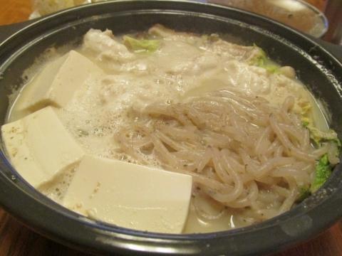 フグの胡麻豆乳鍋1