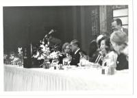 日米協会夕食会(筆者が席を外して撮影)
