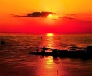 夕陽に映える東京湾
