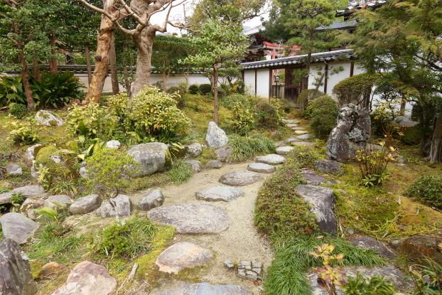 當麻寺中之坊庭園・枯山水部分