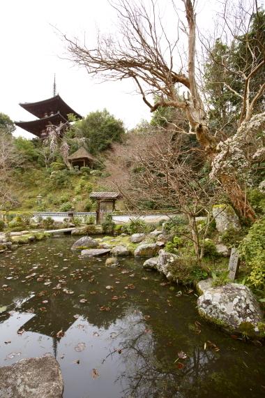 當麻寺中之坊・庭園と東塔