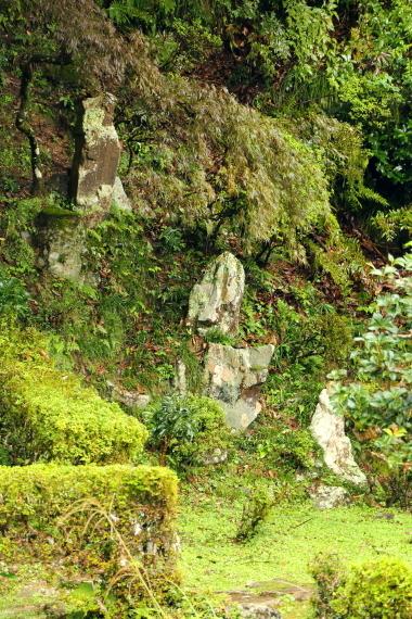 西教寺客殿庭園・枯滝石組