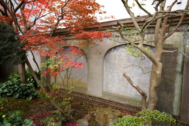 北方文化博物館新潟分館・煉瓦塀