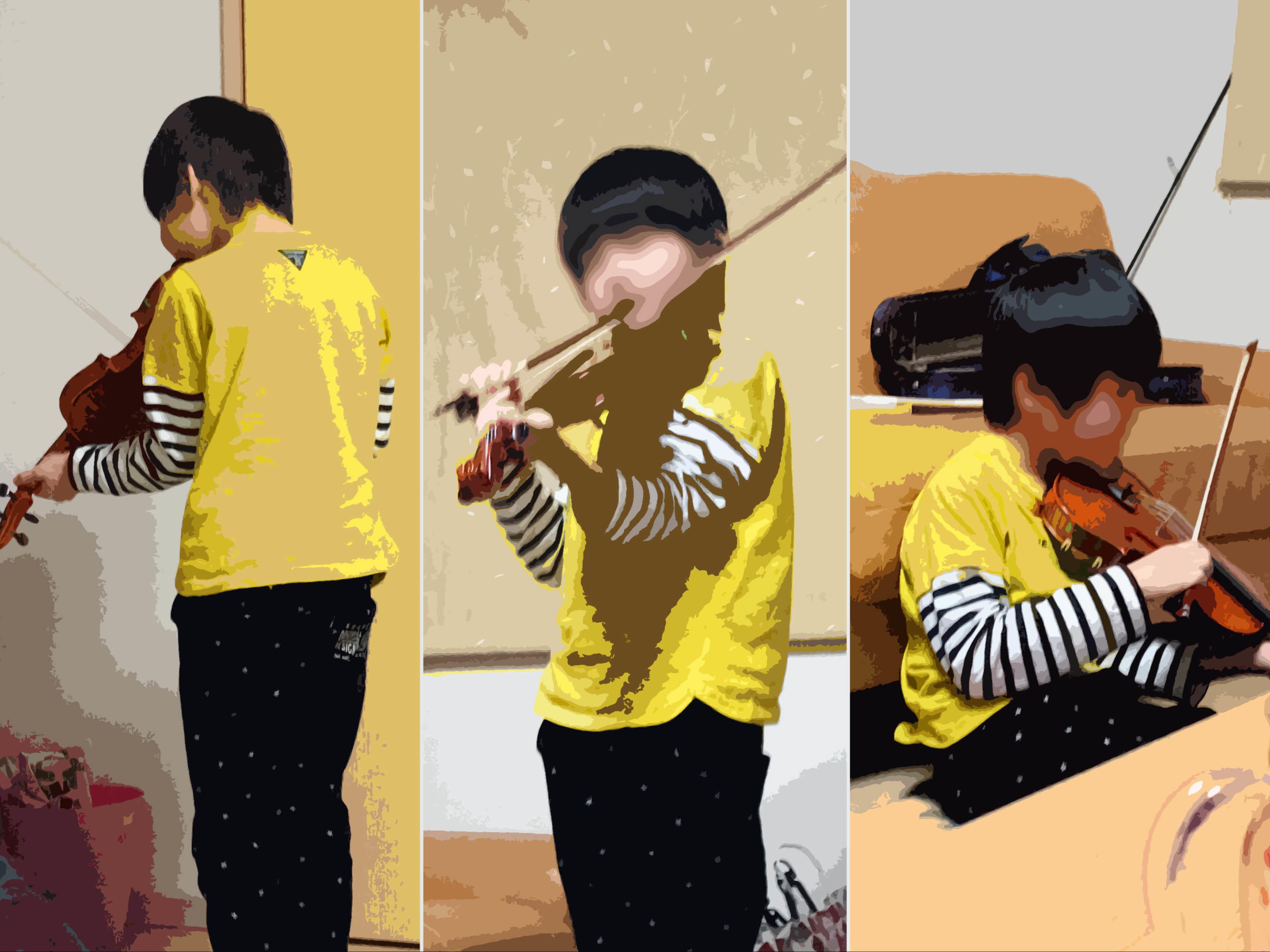 バイオリン男子