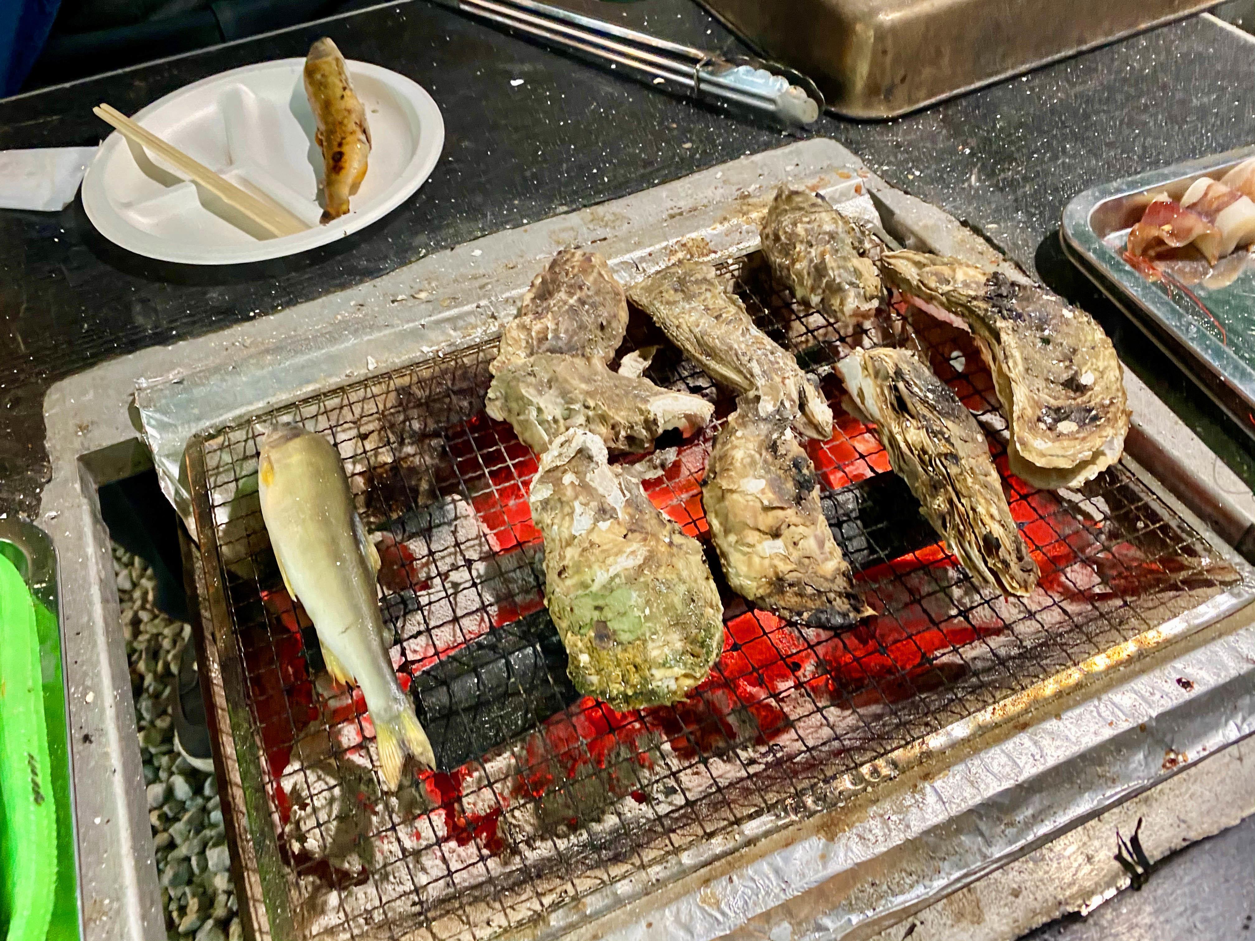 レッツ牡蠣焼き(^^)/