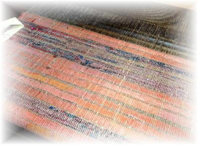 裂き織りマフラー30-1