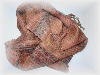 裂き織りマフラー30-6