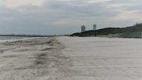 白い砂の入った稲毛海浜公園