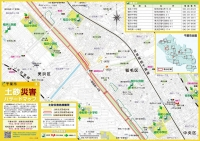 土砂災害ハザードマップの例