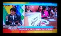 ボリビア大統領選挙テレビ中継