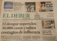 ボリビアの新聞一面