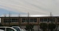 修理が終わった小学校の体育館屋根