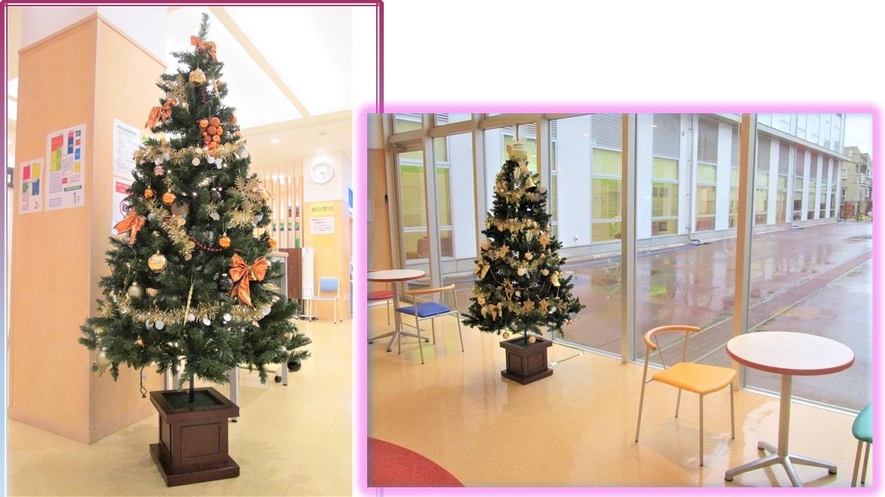院内のクリスマスツリー