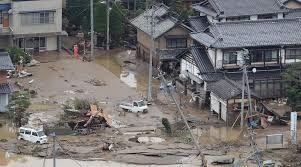 台風19号による堤防決壊の被害