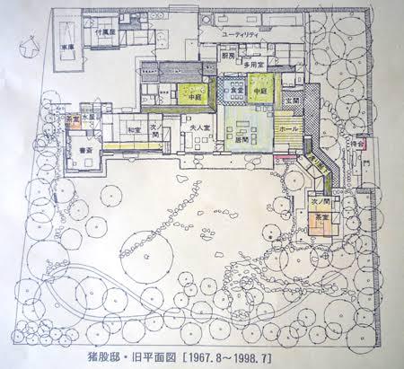 吉田五十八設計 猪股邸間取り図