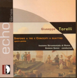 Torelli Sinfonia for 3 Concerti for 4, Op 5