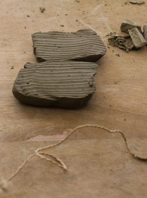 粘土を切る紐 引いて切る 1 10 9