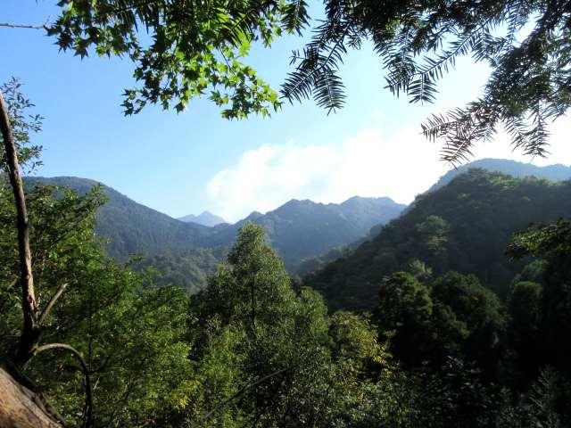 IMG0010JPG障子ヶ岳の奥に英彦山