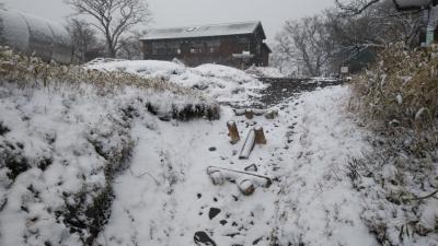 ⑤復路 雪のミヤマ山荘