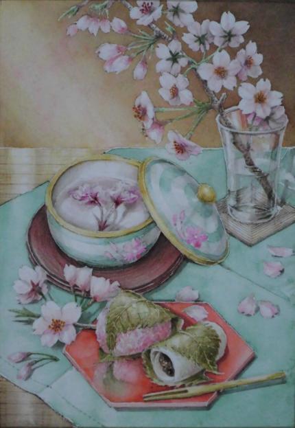 桜茶と桜餅 2003