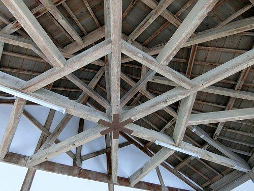 旧登米小学校・玄関天井