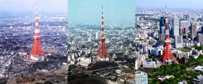 東京タワー変貌