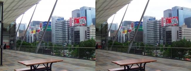 東京駅八重洲口グランルーフ①(交差法)