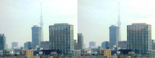 ホテル京阪築地銀座グランデ 最上階スーペリアフロア朝景眺望(交差法)