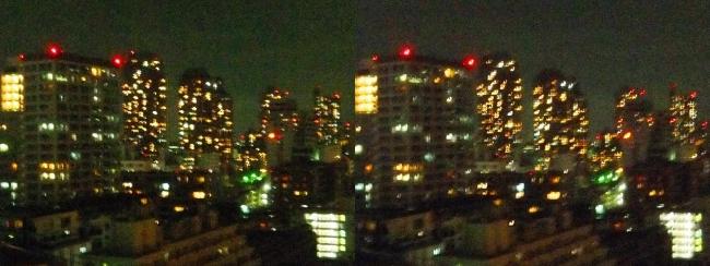 ホテル京阪築地銀座グランデ 最上階スーペリアフロア夜景眺望②(平行法)