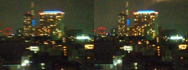 ホテル京阪築地銀座グランデ 最上階スーペリアフロア夜景眺望①(平行法)