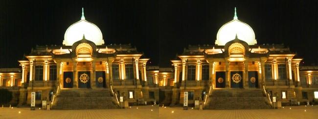 築地本願寺 夜景(交差法)