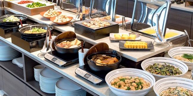 ホテル京阪築地銀座グランデ 朝食 バイキングカウンター