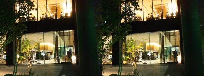 ホテル京阪築地銀座グランデ 夜の外観(平行法)