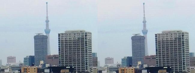 ホテル京阪築地銀座グランデ 最上階スーペリアフロア眺望④(平行法)
