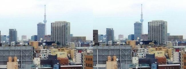 ホテル京阪築地銀座グランデ 最上階スーペリアフロア眺望③(交差法)