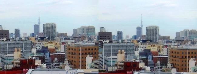 ホテル京阪築地銀座グランデ 最上階スーペリアフロア眺望②(交差法)