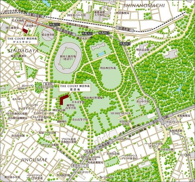 THE COURT 神宮外苑 MAP