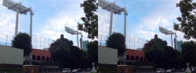 神宮球場外観⑦(交差法)