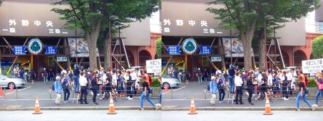神宮球場外観②(交差法)