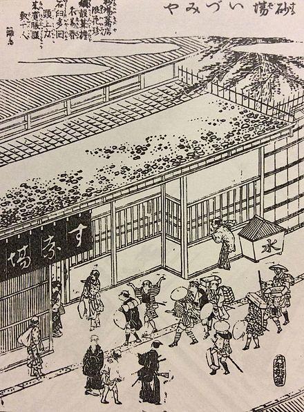 「摂津名所図会」砂場いづみやの表口 1798年(寛政10年)