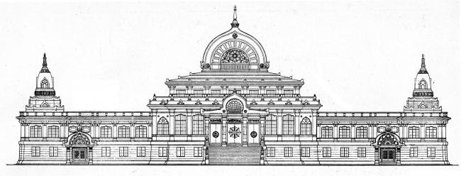 築地本願寺 立面図