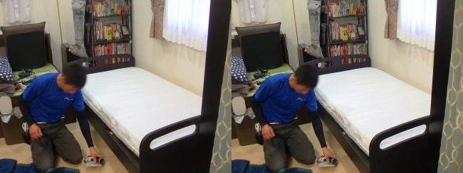 ベッド設置作業④(平行法)