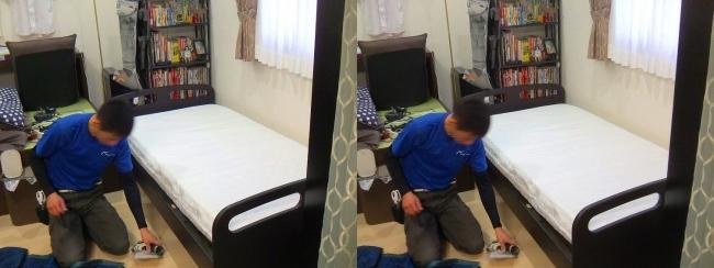 ベッド設置作業④(交差法)