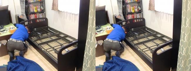 ベッド設置作業③(平行法)
